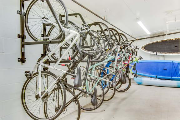 Covered Bike Storage at The Whittaker, Seattle, WA