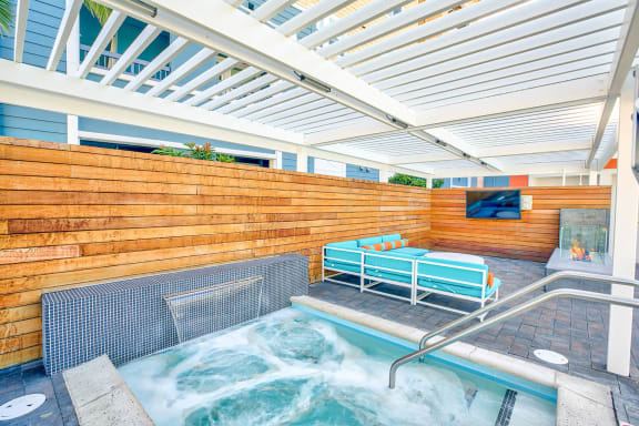 Spa with seating and TV nearby at Blu Harbor, 1 Blu Harbor Drive, CA