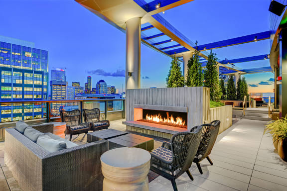 Abundant Indoor and Outdoor Amenity Spaces at Cirrus, 2030 8th Avenue, Seattle