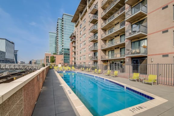 Year-Round Heated Pool at The Manhattan Tower and Lofts, Denver, CO