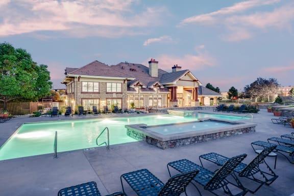 Resort-Style Pool at Windsor at Meridian, Englewood, Colorado