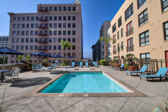 Heated Swimming Pool with Sun Deck at Terraces at Paseo Colorado, 375 E. Green Street, Pasadena
