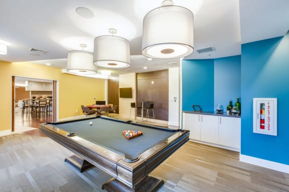 Game room with Billiards at Vox on Two, 223 Concord Turnpike, MA