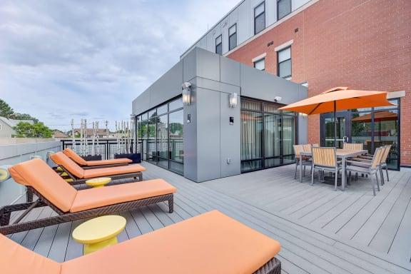 Rooftop Sundeck at Windsor at Maxwells Green, Massachusetts, 02144