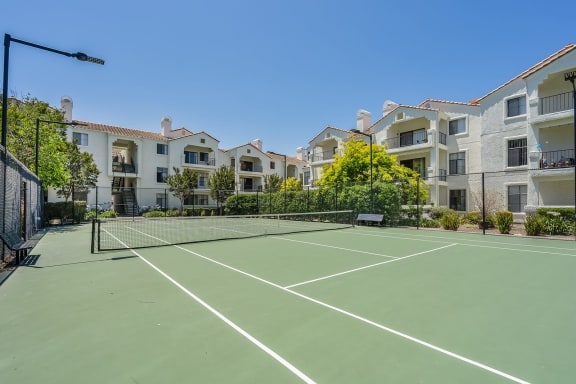 Tennis Courts at Mission Pointe by Windsor, Sunnyvale, California