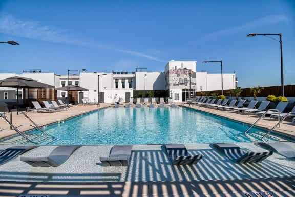 Upscale Lap and Lounge Swimming Pools with Cabana at Morningside Atlanta by Windsor, 1845 Piedmont Ave NE, Atlanta