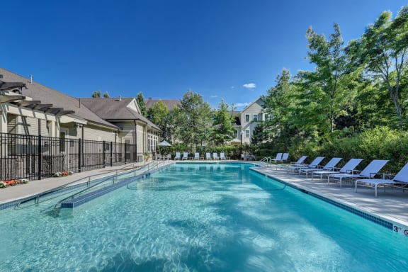 Sparkling Swimming Pool with Sundeck at Windsor at Oak Grove, 12 Island Hill Ave., MA