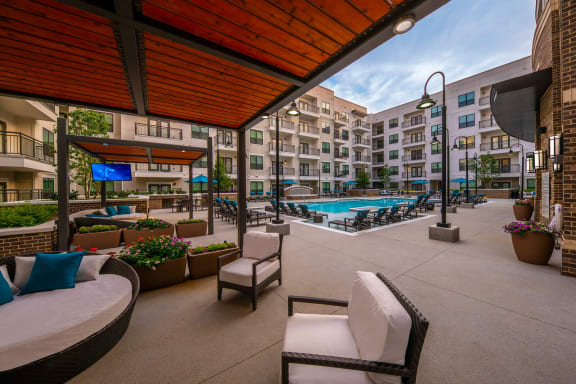 Resort-Style Swimming Pool with Expansive Tanning Areas at Windsor Old Fourth Ward, 608 Ralph McGill Blvd NE, GA