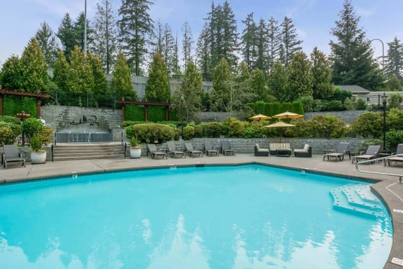 Resort-style pool at Reflections by Windsor, Washington, 98052