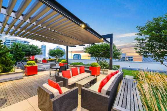 Rooftop Sundeck and Garden with Gorgeous Views  at The Martin, Seattle, WA