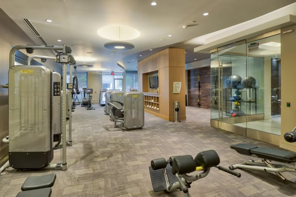 Fitness center at Olympic by Windsor, Los Angeles, CA