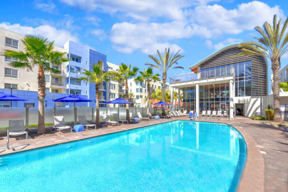 Heated Fresh-Water Pool at Boardwalk by Windsor, California, 92647