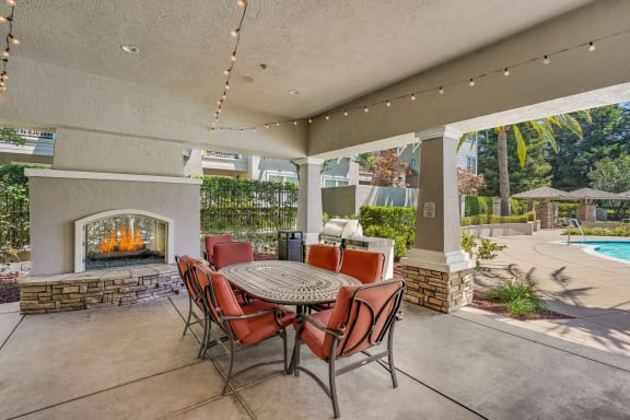 Community Grilling Stations and Outdoor, Dining Area at The Estates at Park Place, 94538, CA