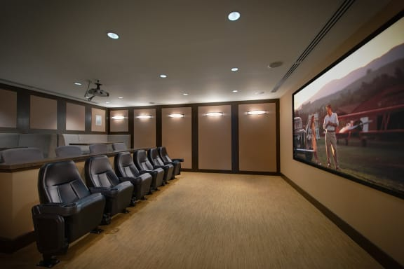Movie Theater With 120 Inch Viewing Screen at The Ridgewood by Windsor, Fairfax, 22030