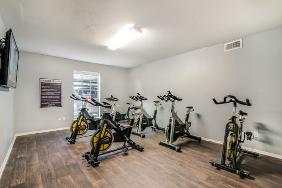 Spin studio at Allen House Apartments, 3433 West Dallas Street, TX