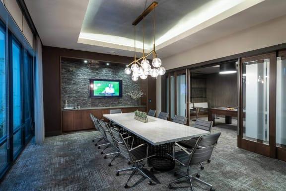 Conference room at Windsor Oak Hill, Austin, Texas