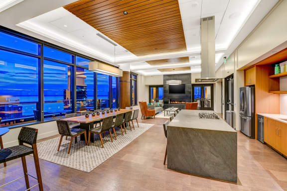 Sky Club Social Lounge With Kitchen at Cirrus, Washington, 98121