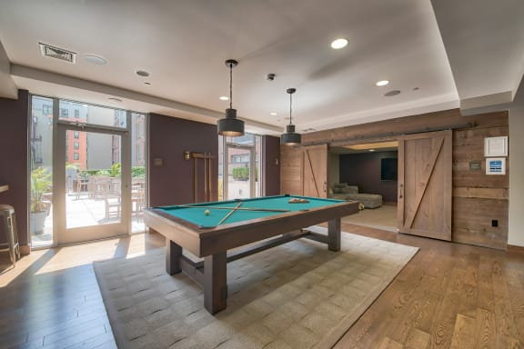 Billiards Table in Game Room at Warren at York by Windsor, New Jersey, 07302