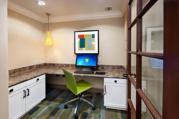 Resident Computer Lab at Windsor Lofts at Universal City, Studio City, CA