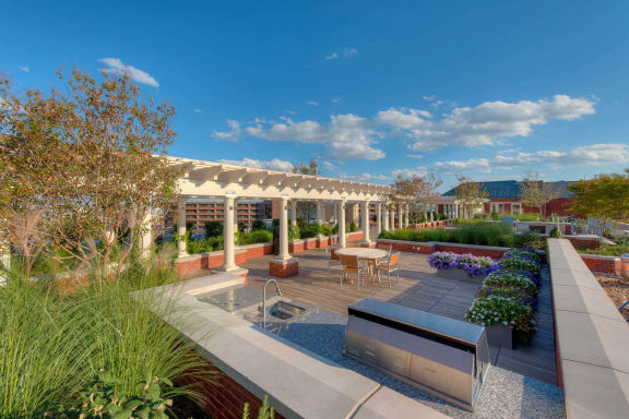 Rooftop terrace at The Woodley, 2700 Woodley Road, NW, 20008