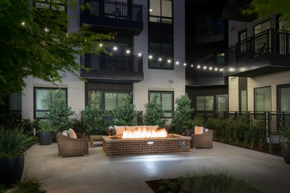 Fire pit at Cannery Park by Windsor, San Jose, California