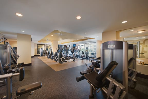 Fully-Equipped Fitness Center with Training Studio at The Ridgewood by Windsor, 4211 Ridge Top Road, VA