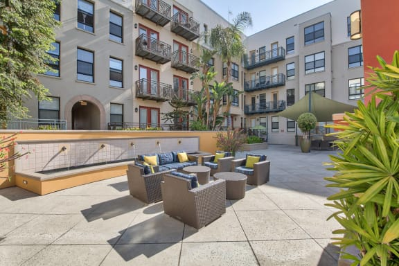 Beautifully Landscaped Courtyard at Terraces at Paseo Colorado, 375 E. Green Street, CA