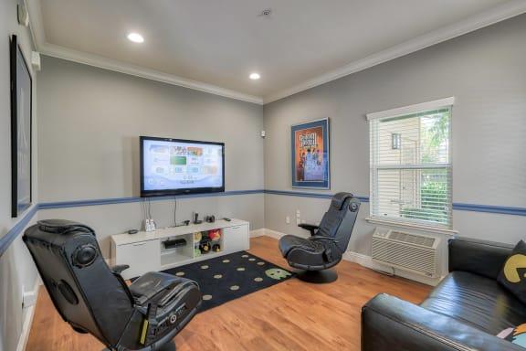 Game Room with Large TV at The Kensington, Pleasanton, California