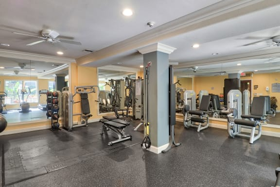 Fully-Equipped Fitness Center at Windsor Lofts at Universal City, Studio City, California