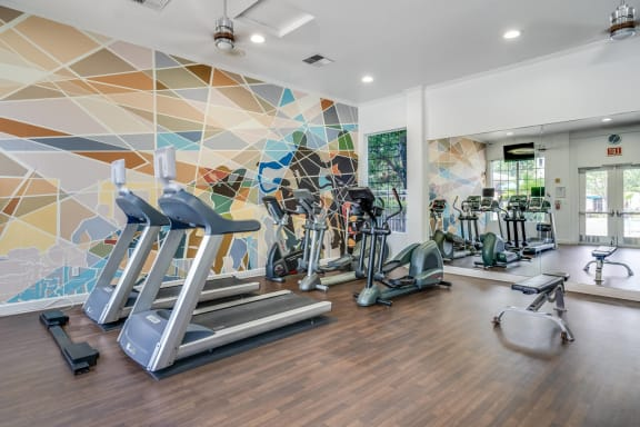 24-Hour Fitness Center with Cardio and Weights at Pavona Apartments, 95112, CA