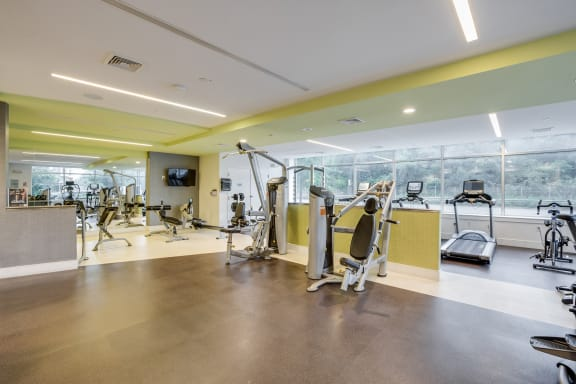 State-of-the-art fitness facility at Vox on Two, Cambridge, MA
