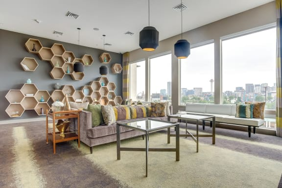 Great Room With Breathtaking Skyline Views at Element 47 by Windsor, 2180 N. Bryant St., Denver