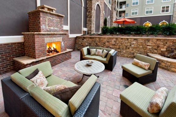 Beautiful Courtyard With Fireplace at Windsor at Glenridge, 5610 Glenridge Drive, GA