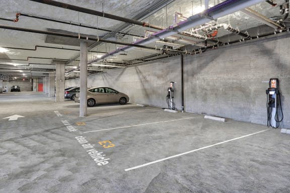 Enclosed Parking Garage with Controlled Access at Mission Bay by Windsor, San Francisco, CA