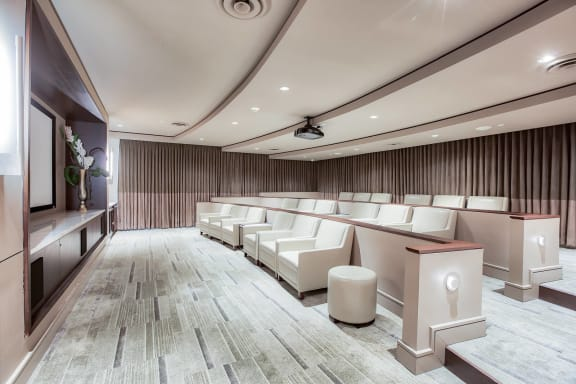 Private Movie Theater with Stadium Seating at Windsor at Cambridge Park, Massachusetts, 02140