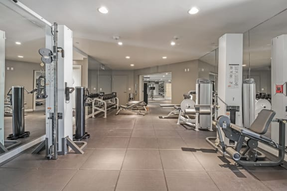 State-of-the-Art Fitness Center at Windsor at Hancock Park, 445 North Rossmore Avenue, Los Angeles