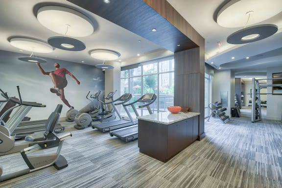 24-Hour Fitness Club with Technogym Equipment at Windsor South Lamar, Austin, Texas
