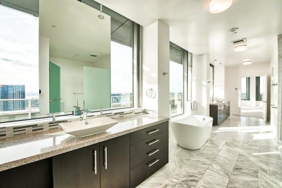 Spa inspired bathroom at The Bravern, Washington, 98004