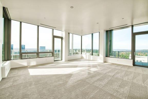 Panoramic windows at The Bravern, Bellevue, WA
