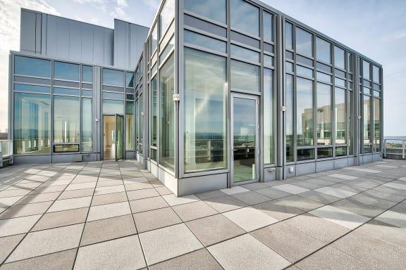 Numerous windows at The Bravern, 688 110th Ave NE, 98004