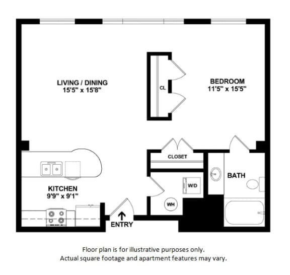 45 2D floor plan at The District, 6300 E. Hampden Ave., 80222