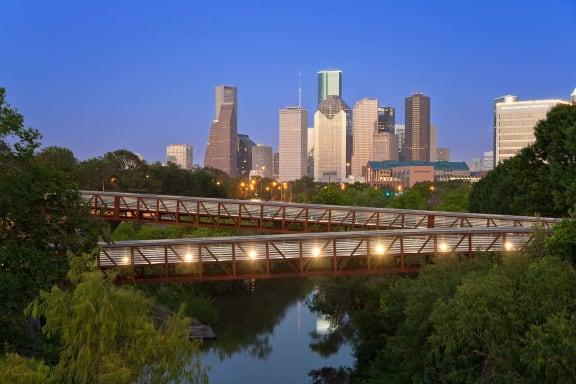 Historic Houston Skyline View from Windsor Memorial, 3131 Memorial Court, Houston