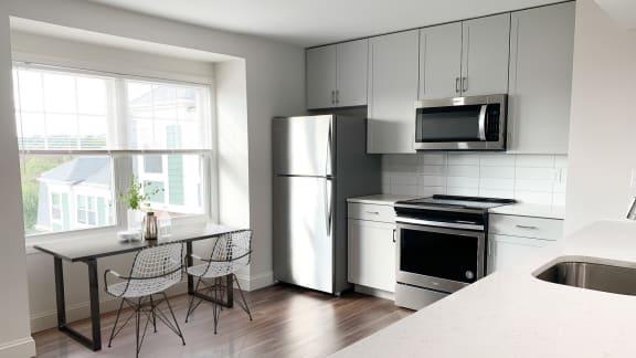 Modern appliances at Windsor Village at Waltham, MA, 02452