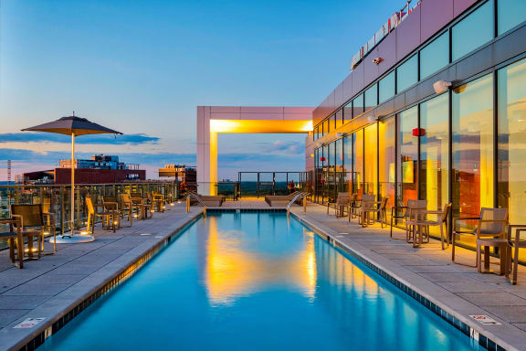 Resort style pool at 7770 Norfolk, Bethesda, Maryland