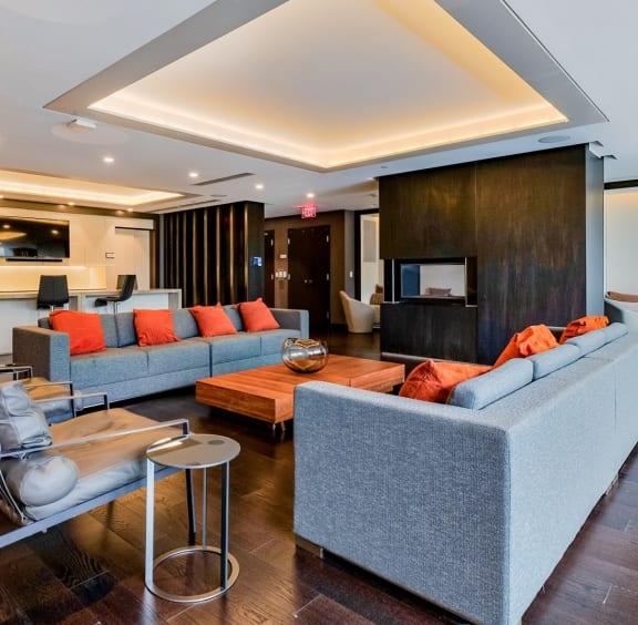 Resident lounge at 7770 Norfolk, Bethesda, MD