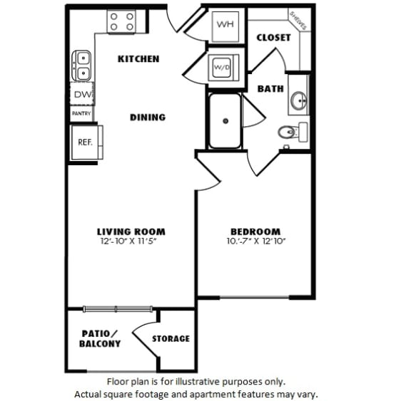 Floor Plan  A1(2) floor plan at Windsor Burnet, 10301 Burnet Rd, 78758