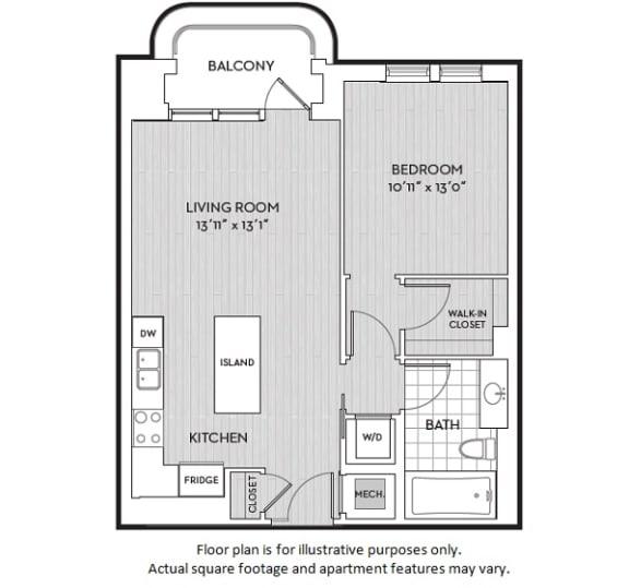 Floor Plan  A1(4) floor plan at The Woodley, Washington, DC, opens a dialog