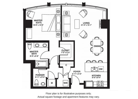 Floor Plan  A11 South(1) floor plan at The Bravern, WA, 98004