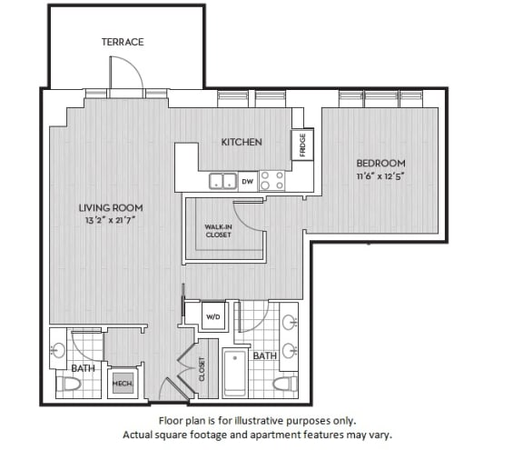 Floor Plan  A12 floor plan at The Woodley, 2700 Woodley Road, NW, Washington, DC, opens a dialog