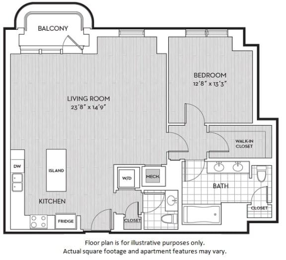 Floor Plan  A13 floor plan at The Woodley, Washington, DC, opens a dialog